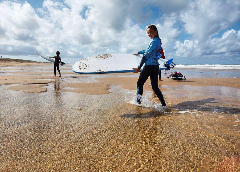 WEEK-END DÉCOUVERTE DU SURF RÉSERVÉ AUX FILLES (MÈRE ET ENFANTS, ADOS) – BRETEAM SURF CLUB