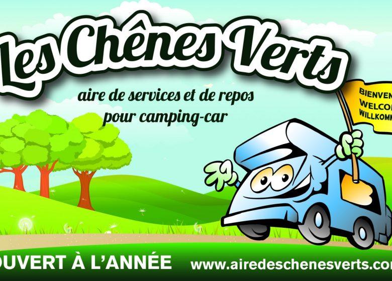 AIRE DES CHÊNES VERTS – AIRE DE STATIONNEMENT ET DE SERVICE CAMPING-CAR PRIVÉE A BREM/MER